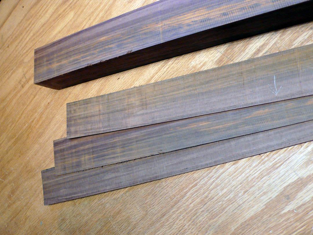 Cutting rosewood veneer